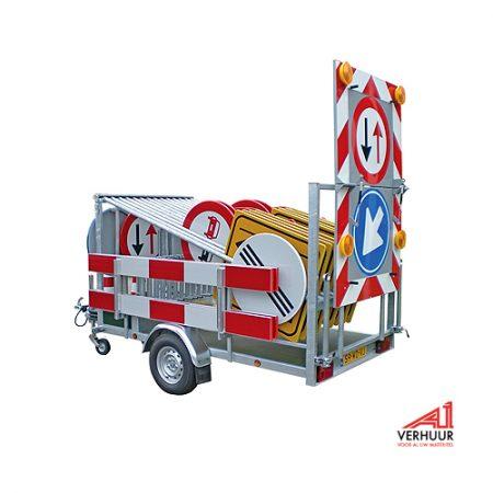 Actiewagen bordenwagen (80 km zone) huren